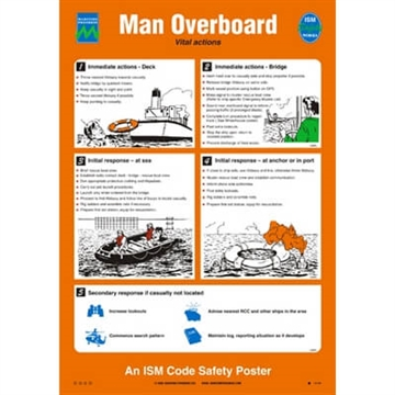 Man overboard - Safety and training poster
