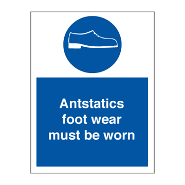 Antistatics foot wear - Mandatory Signs