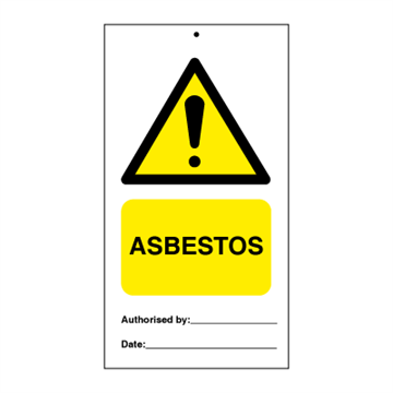 Asbestos (packed in 10) - Tie Tags