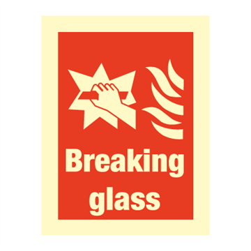 Breaking glass - Fire Signs
