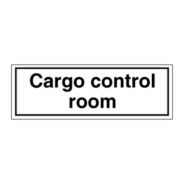 Cargo control room - ISPS Code Signs