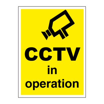 CCTV in operation - ISPS Code Signs