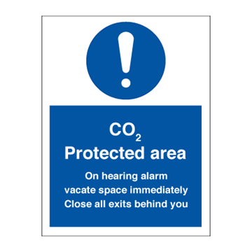 CO2 Protected area - Mandatory Signs