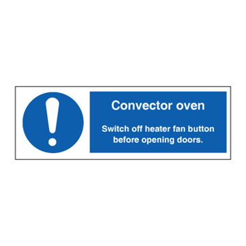 Convector oven - Mandatory Signs