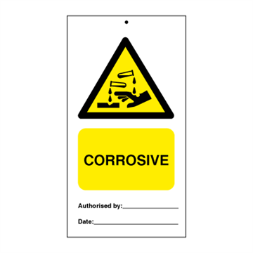 Corrosive (packed in 10) - Tie Tags