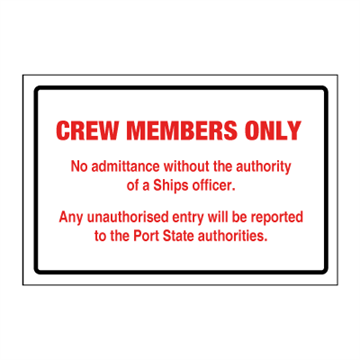 crew only sign