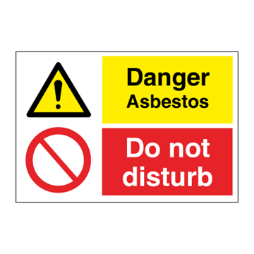 Danger asbestos - Combination Signs