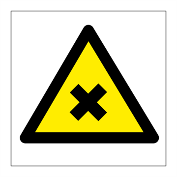 Danger Injurios chemicals - Hazard & Warning Signs