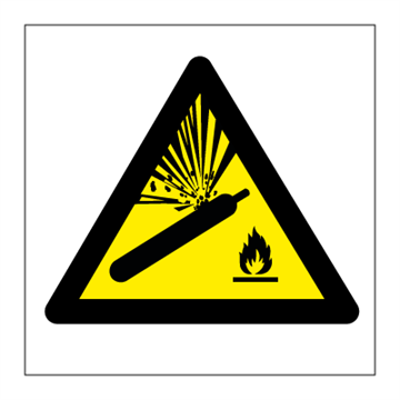 Danger compressed air - Hazard & Warning Signs