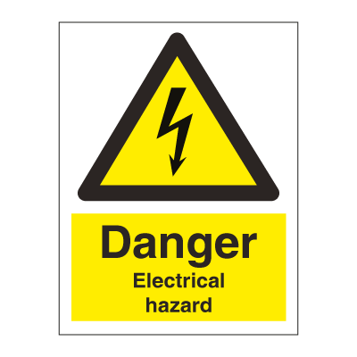 Danger Electrical hazard - Hazard & Warning Signs