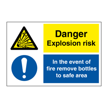 Danger explosion risk - Combination Signs