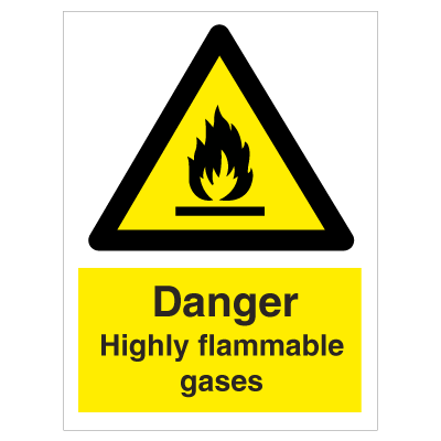 Highly flammable gasses