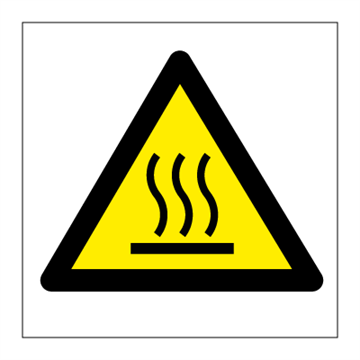 Hot surface - Hazard & Warning Signs