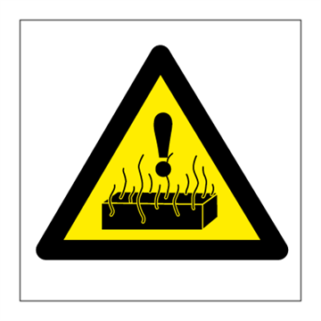 Danger Hot - Hazard & Warning Signs