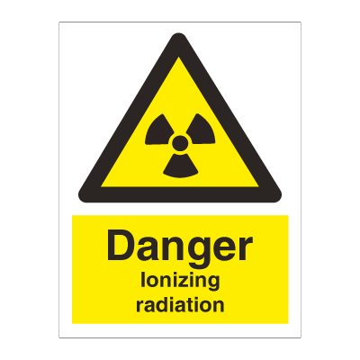 Caution Ionizing radiation - Hazard & Warning Signs