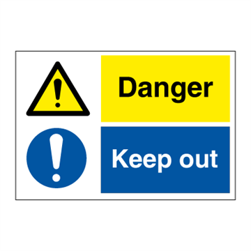 Danger - Combination Signs