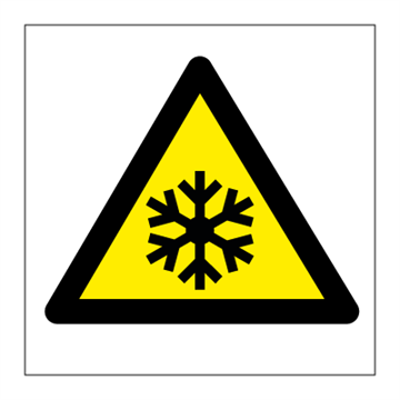 Danger low temperature - Hazard & Warning Signs