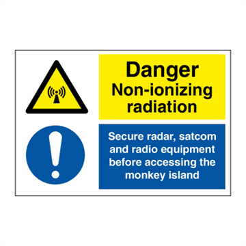 Danger Non-ionizing radiation - Combination Signs