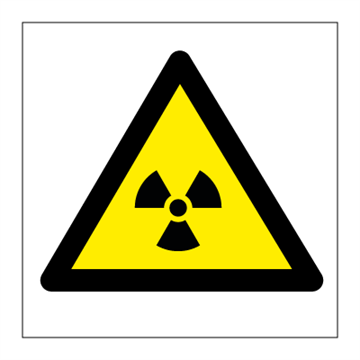 Caution Radiation risk - Hazard & Warning Signs
