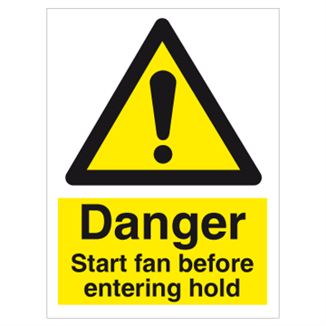 Start fan before entering hold