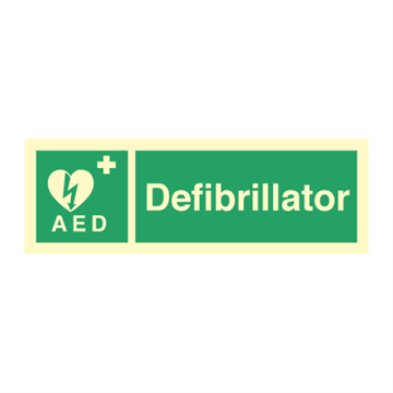 Defibrillator - Emergency Signs