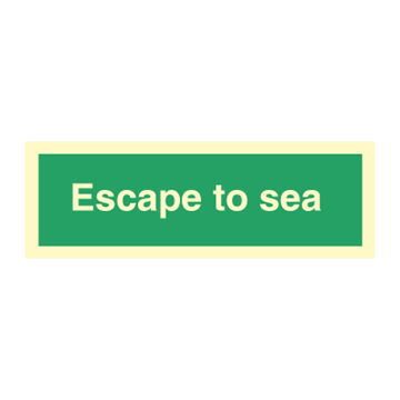 Escape to sea - Direction Signs