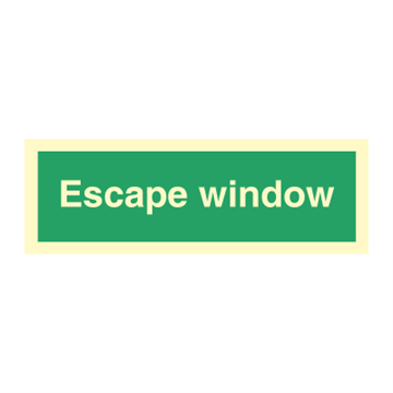 Escape window - Direction Signs