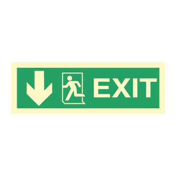 Exit left, arrow down - Direction Signs
