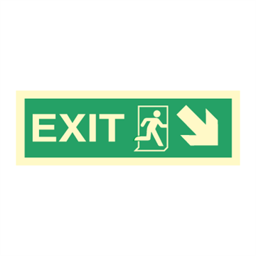 Exit right, arrow right/down - Direction Signs