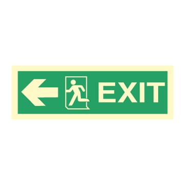 Exit left, arrow left - Direction Signs