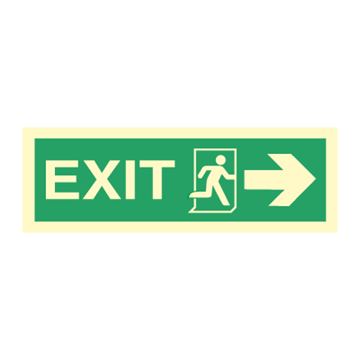Exit rigt, arrow right - Direction Signs