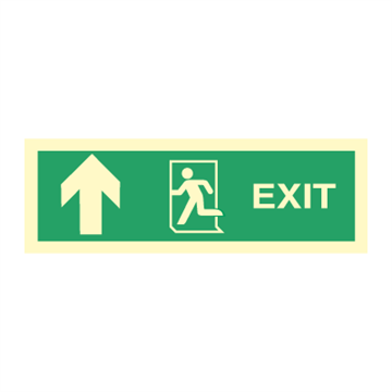 Exit left arrow up - Direction Signs