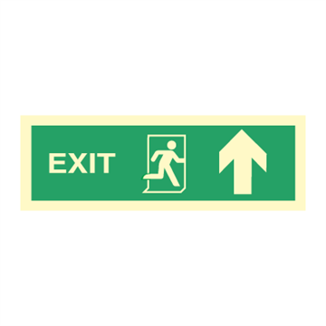 Exit right arrow up - Direction Signs