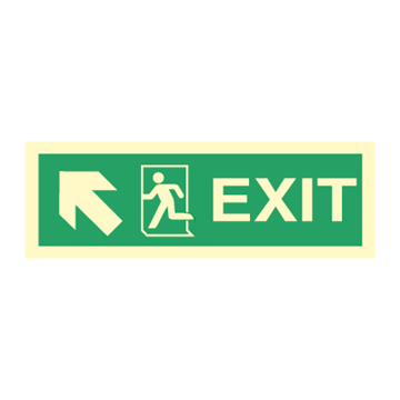 Exit left/up, arrow up - Direction Signs