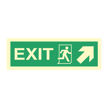 Exit rigt/up, arrow up - Direction Signs