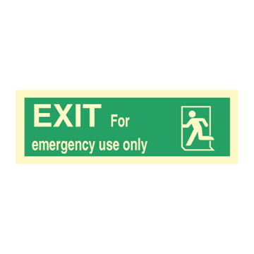 Exit right, arrow down - Direction Signs