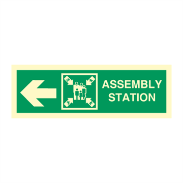 Assembly station arrow left - Direction Signs
