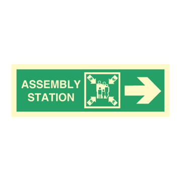 Assembly station arrow right - Direction Signs