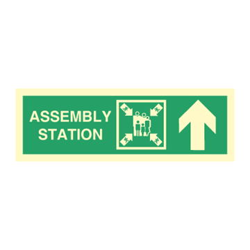 Assembly station arrow up - Direction Signs