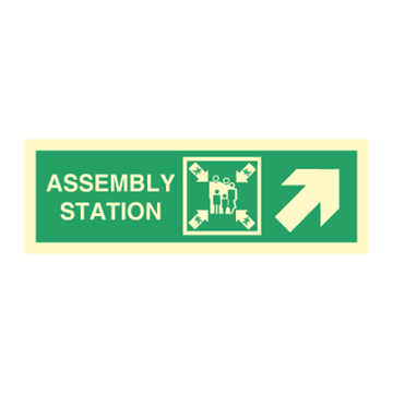 Assembly station arrow up to corner -