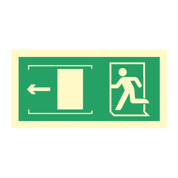 Exit left sliding door - Direction Signs