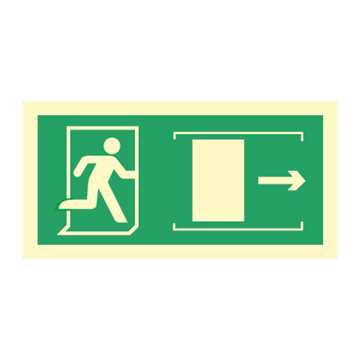 Exit right sliding door - Direction Signs