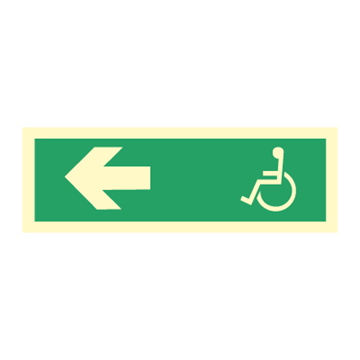 Wheelchair direction left - Direction Signs