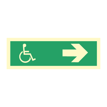 Wheelchair direction right - Direction Signs