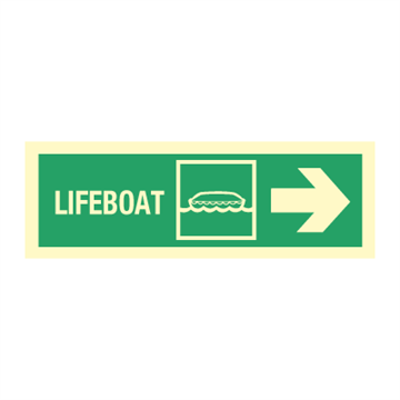 Lifeboat arrow right - Direction Signs