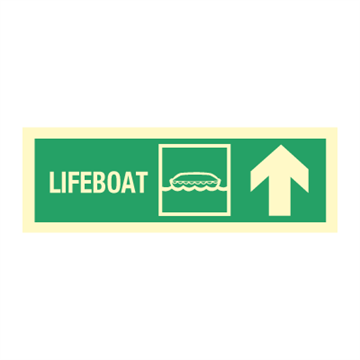 Lifeboat arrow  down up right - Direction Signs