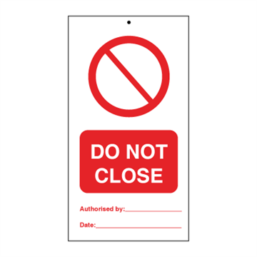 Do not close (pk. á 10 stk.) - Tie Tags