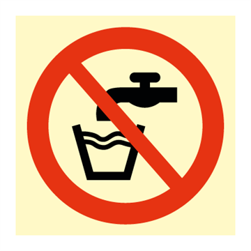 Do not drink - Prohibition Signs