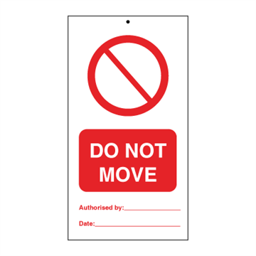 Do not move (packed in 10) - Tie Tags