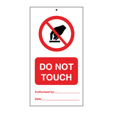 Do not touch (packed in 10) - Tie Tags